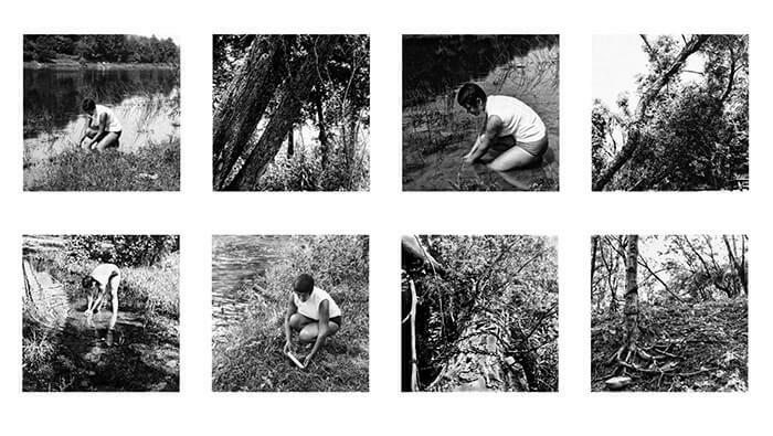 Agnes Denes. Rice/ Tree/ Burial Project (Original Creation in Sullivan County, New York), 1968Adriana Lestido. Serie Antártida negra, 2012Agnes Den...